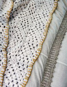 granny squares + blanket stitch - color inspiration