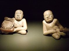 Seated and reclining hunchbacks Mexico Puebla Olmec style Early-Middle Formative Period 1000-500 BCE Ceramic