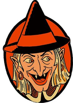 These were paper masks that sold at the Dime Store for guess what? A dime or less.   Vintage Witch