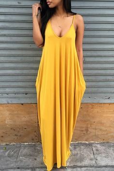 Make sure you're right on-trend this season with our basic dress. This is a plain, sleeveless, scoop neck, tent dress. This long dress is made from polyester Source by maxi dress Yellow Maxi Dress, Red Maxi, White Maxi Dresses, Dresses Near Me, Tent Dress, Spaghetti Strap Dresses, Spaghetti Straps, Floor Length Dresses, Sundresses