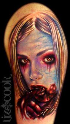 69f60835d Liz Cook - Vampire Girl Portrait Vampire Tattoo, Badass Tattoos, Top Tattoos,  Amazing