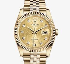 Rolex Reference 116238. DATEJUST 36 MM. MODEL CASE Oyster, 36 mm, yellow gold
