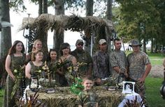 This wedding was so well camouflaged that only 3 of the guests were able to find it. (submitted by Bob)
