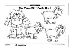 3 billy goats gruff printables Pictures of the billy goats and the troll for children to cut out and . Nursery Rhymes Preschool, Preschool Literacy, Kindergarten Reading, Traditional Tales, Traditional Stories, Fairy Tale Activities, Book Activities, Billy Goats Gruff Story, Trolls