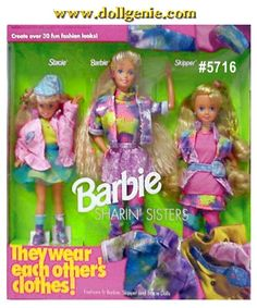 Sharin Sisters 91 Barbie, Stacie and Kelly Giftset