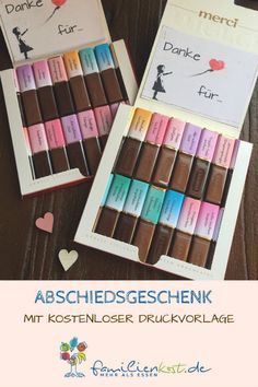 Abschiedsgeschenk Kindergarten Looking for a farewell gift for kindergarten? With my free print template you can turn a Merci box into a great goodbye gift [. Kindergarten Gifts, Kindergarten Lesson Plans, Cute Gifts, Diy Gifts, Sos Cookies, Creative Bubble, Goodbye Gifts, Christmas Crafts To Sell, Farewell Gifts