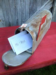 Vintage Rusty Metal Mailbox  Wedding Decor by ZassysTreasures, $25.00