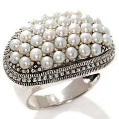 Lovely pearl and silver ring Jewelry Box, Jewelry Accessories, Fashion Accessories, Diamond Jewelry, Silver Jewelry, Silver Ring, Unusual Rings, Pearl And Lace, Glamour