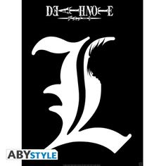 DEATH NOTE Poster Death Note L shadow (52X38)