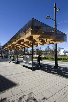 University Boulevard Transit Shelters by PUBLIC Architecture + Co