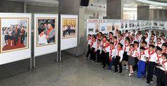 조선소년단 제8차대회 참가자들 평양시내 여러곳 참관