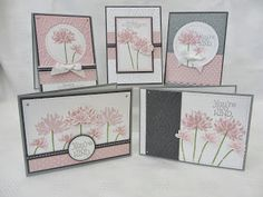 Stamps - Too Kind. Colours - Whisper White, Pink Pirouette, Blushing Bride, Basic Grey & Smoky Slate.
