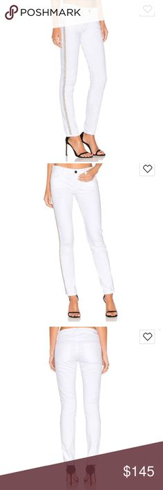 Etienne Marcel Distressed Skinny in White Cotton blend Etienne Marcel Pants Skinny