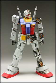 PG Gundam - Painted Build Modeled by Custom Gundam, Gunpla Custom, Gundam Toys, Frame Arms, Gundam Model, Mobile Suit, Action Figures, Guys, Building