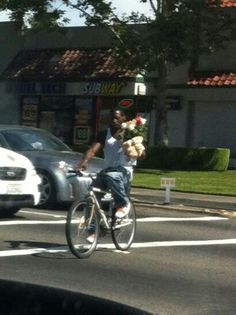 This guy can bring his girl flowers whats my guys excuse