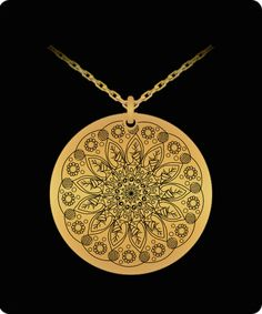 Laser Engraved Gold Plated or Stainless Steel Flower Design 4 Necklace Gems Jewelry, Evie, Laser Engraving, Flower Designs, 18k Gold, Mall, Gold Necklace, Stainless Steel, Birthday