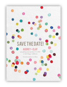 Hey, I found this really awesome Etsy listing at https://www.etsy.com/listing/169293655/confetti-color-save-the-date