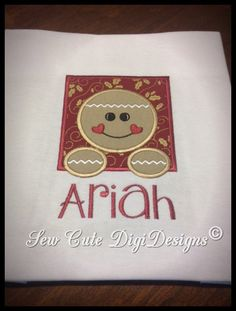 Adorable Gingerbread Square Border Applique by SewCuteDigiDesigns