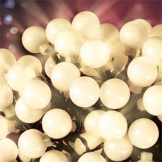 Lytworx 100 LED White Ball Festive Solar Light
