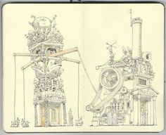 Very funny and creative drawings by Mattias Adolfsson from Sigtuna, Sweden.