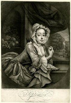 """September"" - Print by Thomas Burford (1745)"