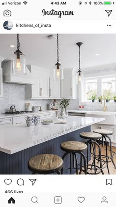 Check out these pics we can finally share with you after being aired on a episode of Property Brothers! Working with our Client to capture the beauty of their design Gold Kitchen, Kitchen Pendants, Kitchen Fixtures, Home Decor Kitchen, Kitchen Living, New Kitchen, Kitchen Design, Kitchen Paint, Property Brothers Kitchen