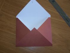 how to make your own envelope out of 10X10 cardstock.
