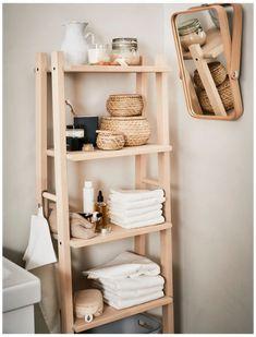 Ikea Bathroom Shelves, Clever Bathroom Storage, Bathroom Ideas, Bathroom Organization, Bathroom Layout, Storage Organization, Diy Storage Rack, Ikea Storage, Storage Ideas
