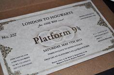 Harry potter party theme invitations