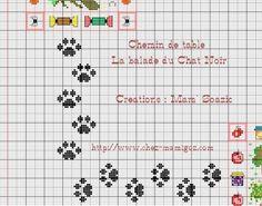 Risultati immagini per grille gratuite point de croix chat noir Cross Stitch Boards, Cross Stitch Heart, Cross Stitch Animals, Filet Crochet, Knit Crochet, Cat Noir, Dog Crafts, Knitting Stitches, Pixel Art