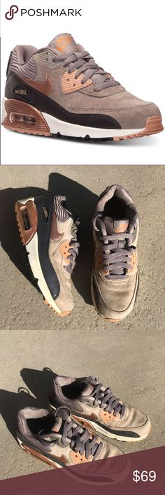 Incredible Brown Taupe Nike Air Max Thea Shoe Grey Light