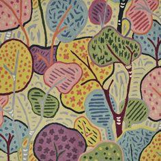 Fabric, Wallpaper   Clarence House, Kharif Crewel
