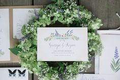 Rustic Lavender Save The Date by Anchor Point Press