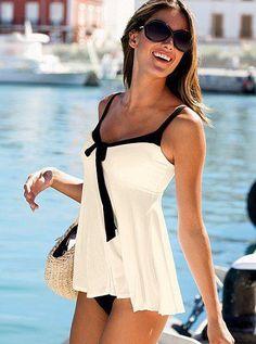 Victoria's Secret swimsuit white black bathing suit bikini swimwear swimsuit one piece summer beach