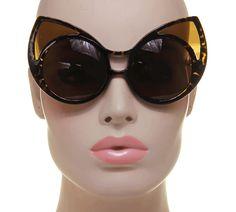 Extreme Super Cat Eye Women Vintage Fashion Oversized Retro Sunglasses #Unbranded #CatEye