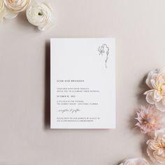 Simple Wedding Invitations Modern Wedding Invites Minimal | Etsy Simple Wedding Invitations, Wedding Invitation Suite, Invites, Botanical Wedding Stationery, Minimal Wedding, October Wedding, Wedding Announcements, Simple Weddings, Etsy