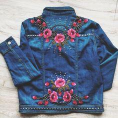 embroidered jacket, embellished #fashion #style #boho #bohemian #embellished #bohofashion #bohostyle #embellishedjacket #embellisheddenim #embellisheddenimjacket #grunge #denimjacket #rabbitandtheraven #festivalseason #festivalfashion #embroideredjacket #embroidery