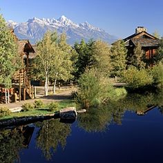 Spring Creek Ranch, 1,000 feet above Jackson Hole, abuts Wyoming's largest river.