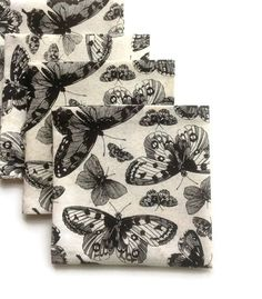 Butterfly Cocktail Napkins/Coasters Cloth Dessert by StudioYTE, $18.00