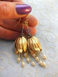 """The Promise"", flower earrings from Jewelry myths by Annalea by DaWanda.com"
