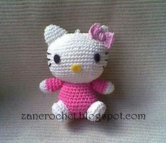 Hello Kitty - NL translation ~ Zan Crochet, #haken, gratis patroon, Nederlands, amigurumi, kat, knuffel, speelgoed, #haakpatroon
