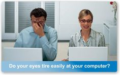 By wearing computer eye strain #glasses that are set up for computer working distance and that decrease the accommodate effort needed to focus on the digital screen, permanent vision changes can be prevented. Even contact lens wearers may need to wear glasses over their contacts for computer use to prevent these side effects. Trendyglasses.net