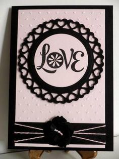 Pink and black valentine