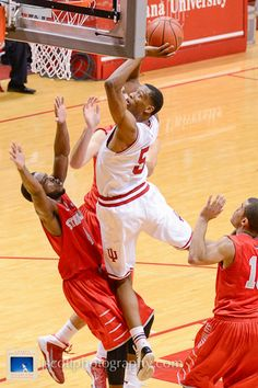 Troy Williams at Indiana's 90-74 win over Stony Brook at Assembly Hall.  #IUCollegeBasketball