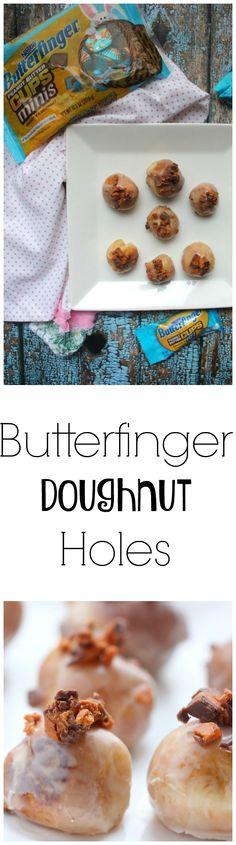 Butterfinger Doughnut Holes Recipe  #EggcellentTreats #ad @butterfinger