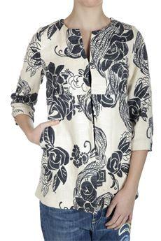Giacca #Jucca in cotone, collo chanel, manica 3/4 #moda #fashion