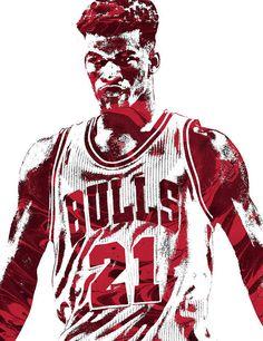 1bfcd73d3 Jimmy Butler Chicago Bulls Pixel Art 2 Art Print by Joe Hamilton