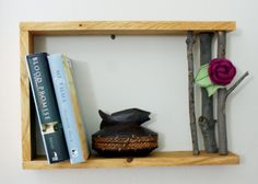 This Handmade Wood Tree Branch Shelf DIY makes a lovely home accessory and is always a great homemade Mother's Day gift idea!