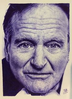 robin williams art | pen drawing of robin williams by chaseroflight traditional art ...