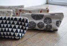 Pouch with fabric printed with original drawing from Etsy